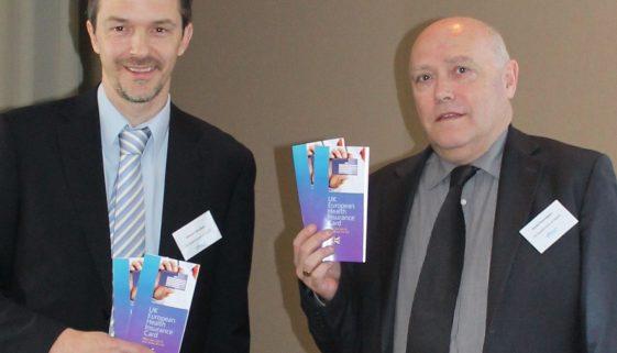Martyn Standing & David Pennington EHIC launch. Feb 14th 2013