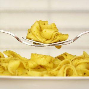 Pasta with vanilla and parmesan