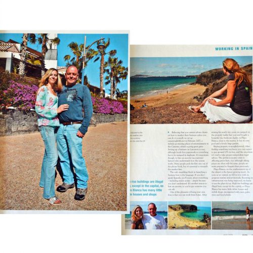 """Elle and Alan in the """"Spain"""" magazine (click to view larger)"""