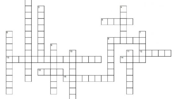 Learn Spanish kitchen crossword