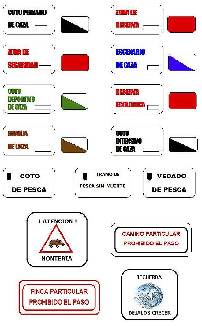 Hunting signs in Spain