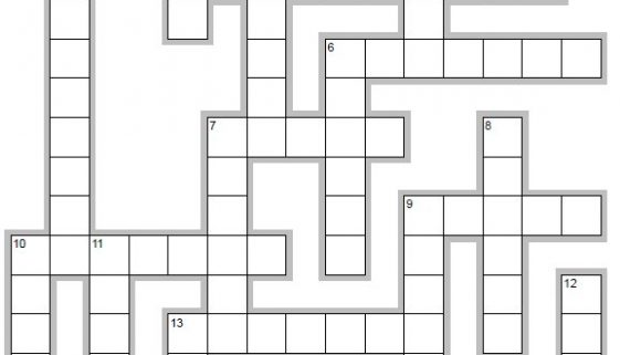 Learn Spanish words beginning with B - crossword