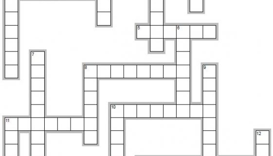 Learn Spanish words beginning with E - crossword