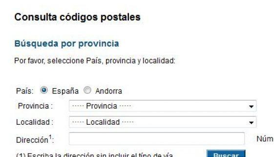Postcodes in Spain