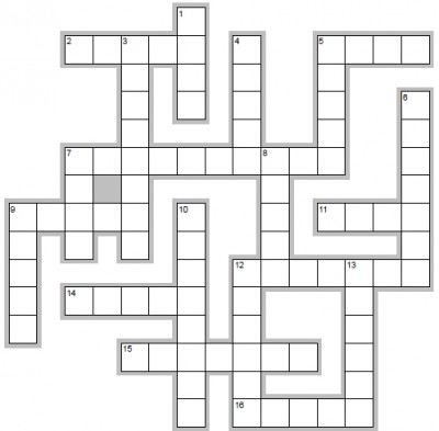Learn Spanish words beginning with N - crossword