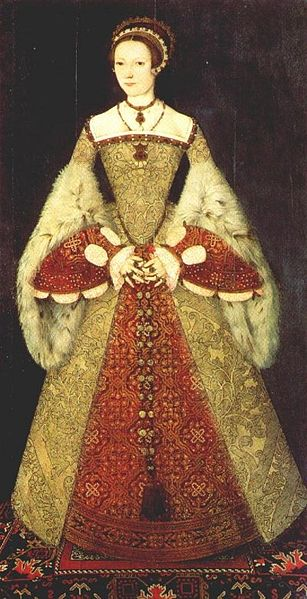 Catherine Parr wearing the Spanish farthingale style of dress
