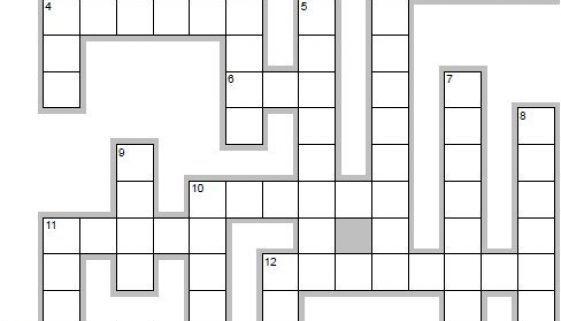 Learn Spanish words beginning with Z - crossword