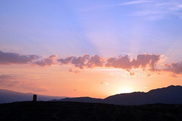 Sunset in Almeria