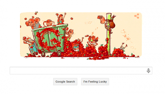 And finally... Google gets messy for La Tomatina