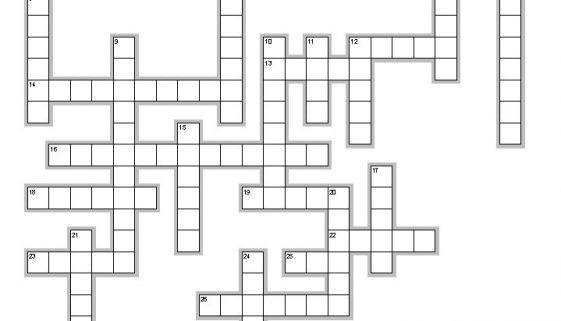 Spanish crossword - relationships