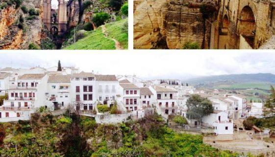 Figure 1. The views of Ronda: Puente Nuevo (top) and mountaintop pueblos blancos (bottom). Photo credit: Flora Krasnoshtein
