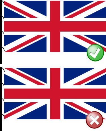The correct way to fly the Union Jack