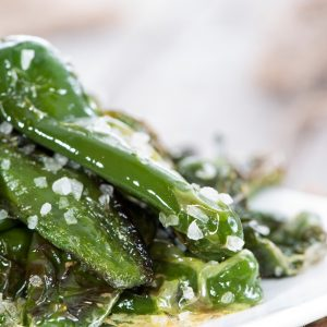 Deep fried padron peppers