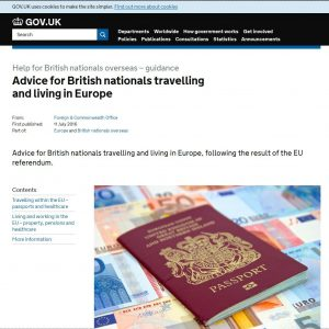 Government launches new webpage for overseas Brits, following Referendum result