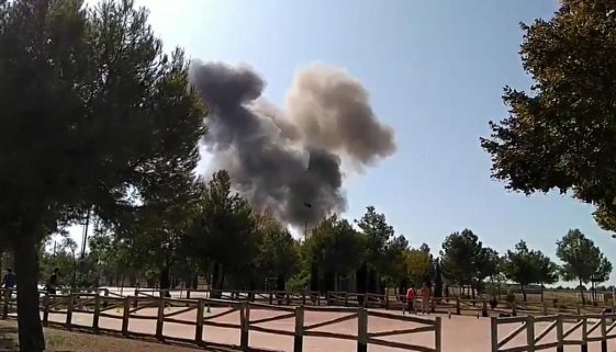 Eurofighter crash in Spain