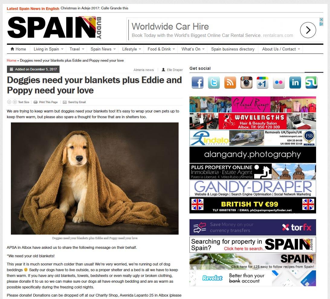 Advertising on Spain Buddy