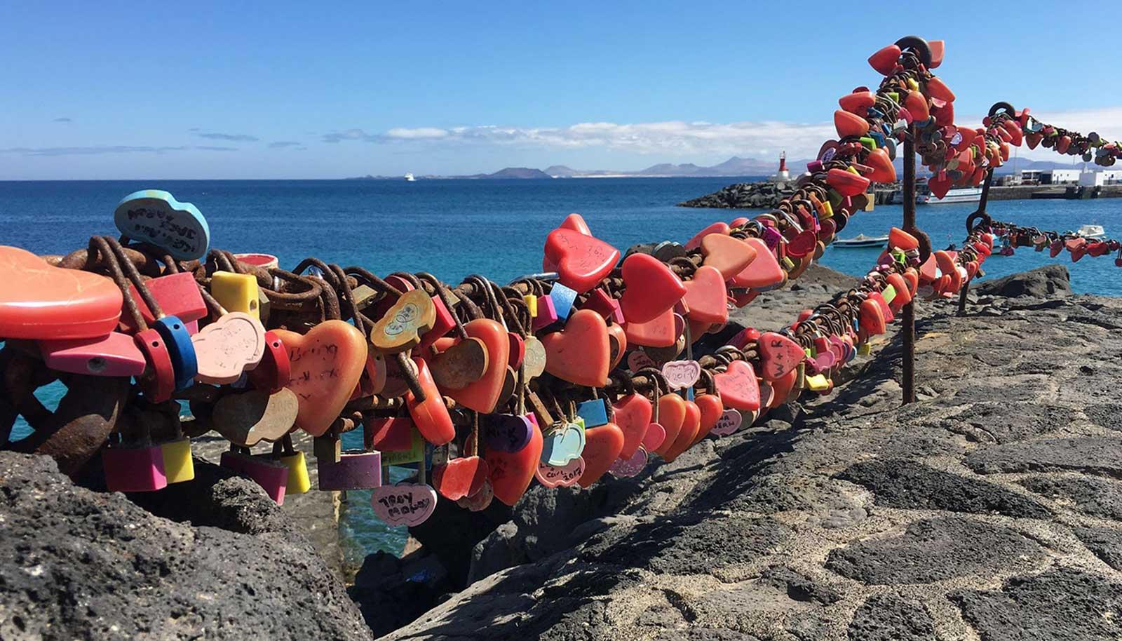 Love locks in Playa Blanca, Lanzarote