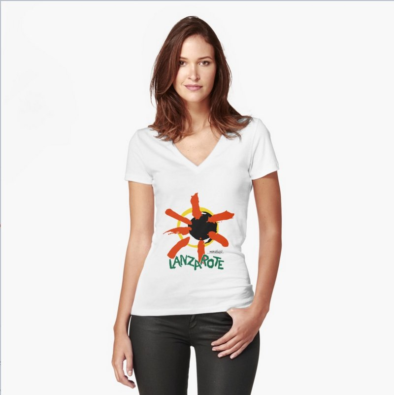 Women's Fitted V-neck Tee