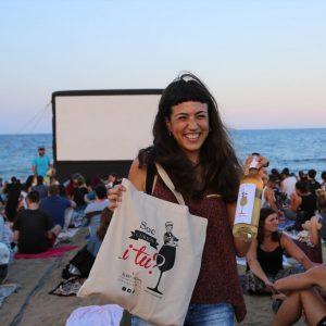 Free beach cinema at Tossa de Mar