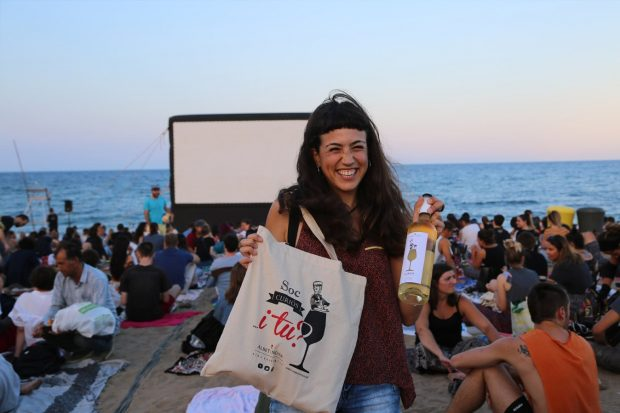 Free beach cinema at Tossa de Mar