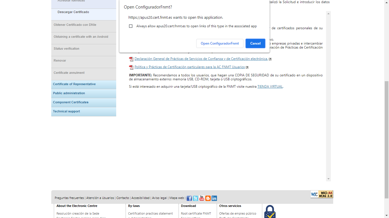How to get a digital certificate in Spain - Install after the identity check
