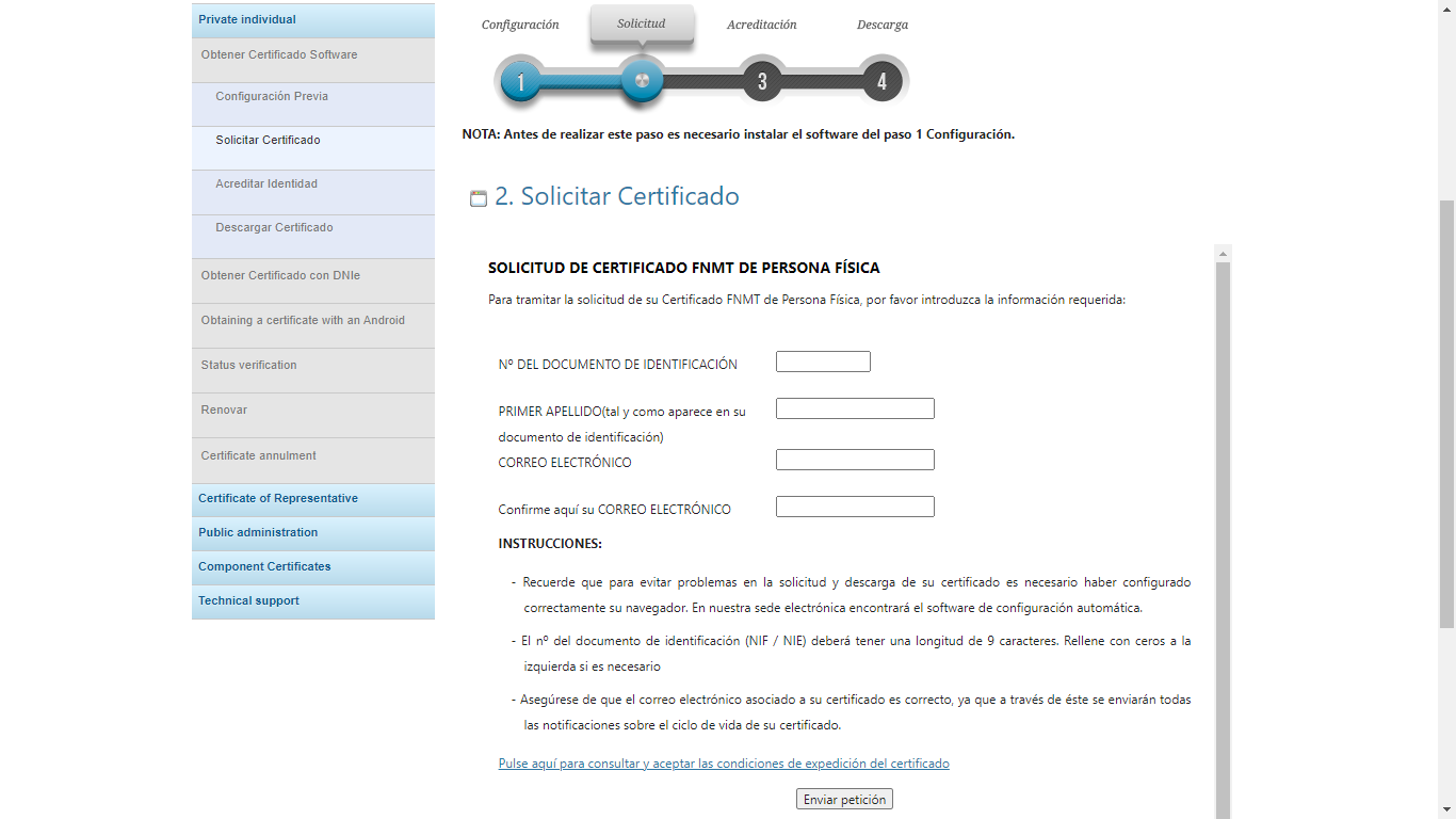 How to get a digital certificate in Spain - Part 05